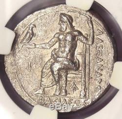 Alexandre Le Grand III Ar Tetradrachm 336-323 Bc Coin Certifié Ngc Xf