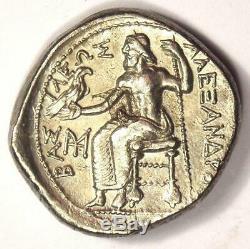 Alexandre Le Grand III Ar Tetradrachm Coin 336-323 Bc Au Rare Condition