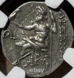 Alexandre Le Grand III Ar Tetradrachm Coin 336-323 Bc Certifié Ngc Ch Au