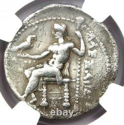 Alexandre Le Grand III Ar Tetradrachm Coin 336-323 Bc Certifié Ngc Ch Fine