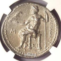 Alexandre Le Grand III Ar Tetradrachm Coin 336-323 Bc Certifié Ngc Choix Vf