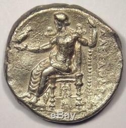 Alexandre Le Grand III Ar Tetradrachm Coin 336-323 Bc De Nice Xf Condition