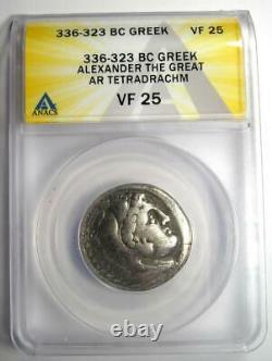 Alexandre Le Grand III Ar Tetradrachm Silver Coin 336-323 Bc Anacs Vf25