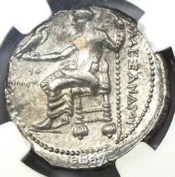 Alexandre Le Grand III Ar Tetradrachm Silver Coin 336-323 Bc Certifié Ngc Au