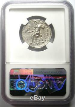 Alexandre Le Grand III Ar Tetradrachm Silver Coin 336-323 Bc Certifié Ngc Vf