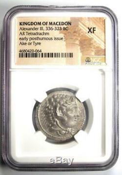 Alexandre Le Grand III Ar Tetradrachm Silver Coin 336-323 Bc Certifié Ngc Xf