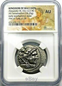 Alexandre Le Grand Superbe (336-323 Bc) Tetradrachm. Grec Ancien Silver Coin