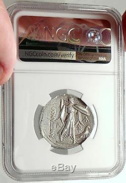 Alexandre Le Grand Sur Ptolemy I Soter Argent Monnaie Grecque Tetradrachme Ngc I68287