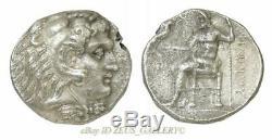 Alexandre Le Grand Tétradrachme Philippe III Héraclès Grec Ancien Silver Coin