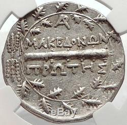 Amphipolis In Macedonia Pièce De Tétradrachme Grecque Argentée Datant De 167 Avant Jc Ngc I66891