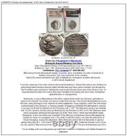 Amphipolis Macédoine Romaine Grec 167bc Argent Tetradrachm Coin Ngc I66858