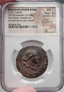 Amphipolis Macedonia 158 Avant Jc Authentique Pièce De Monnaie Grecque Argentée Au Authentique Ngc