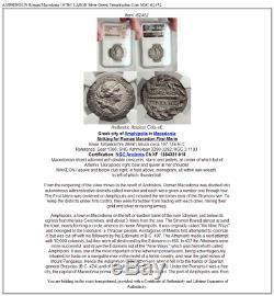 Amphipolis Romaine Macédoine 167bc Grande Argent Grecque Tetradrachm Coin Ngc I62452