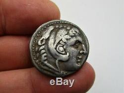 Ancien Alexandre Le Grand Coin Tétradrachme D'argent, Royaume De Macedon