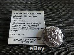Ancien Coin Royaume De Macedon Tétradrachme D'argent Alexandre Iii, Le Grand 17g