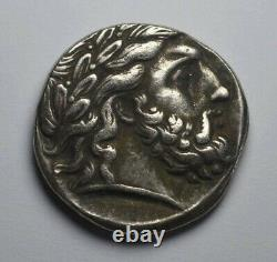 Ancien Grec Macédonien Argent Tetrachm Coin 350bc. Philippe Ii, Zeus