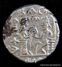 Ancien Parthe Royaume Vologases IV 147-191 A. D. Tétradrachme D'argent Choix