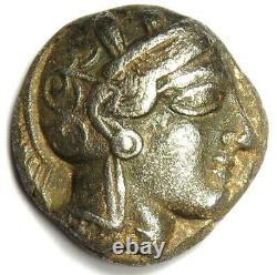 Ancienne Egypte Athena Owl Tetradrachm Argent Coin (400 Av. J.-c.) Bon Vf (très Bon)