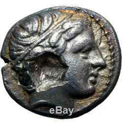 Ancienne Pièce Grecque Argent 1/5 Tetradrachm Philippe II 359-336 Bc Amphipolis Macedo