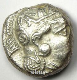 Ancient Athènes Grèce Athena Owl Tetradrachm Coin (393-294 Av. J.-c.) Choix Xf