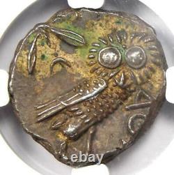 Ancient Athènes Grèce Athena Owl Tetradrachm Coin (393-294 Av. J.-c.) Ngc Choice Au