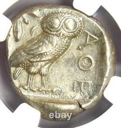 Ancient Athènes Grèce Athena Owl Tetradrachm Coin (440-404 Av. J.-c.) Ngc Choice Au