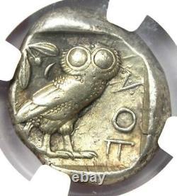 Ancient Athènes Grèce Athena Owl Tetradrachm Coin (440-404 Av. J.-c.) Ngc Choice Vf