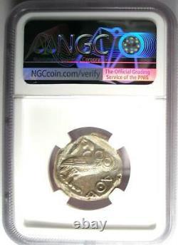 Ancient Athènes Grèce Athéna Owl Tetradrachm Coin (440-404 Av. J.-c.) Ngc Ms (unc)