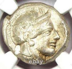 Ancient Athènes Grèce Athéna Owl Tetradrachm Coin (440-404 Av. J.-c.) Ngc Vf