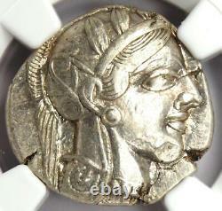 Ancient Athens Greece Athena Owl Tetradrachm Coin (440-404 Av. J.-c.) Ngc Au, Test Cut