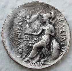 Ancient Et Médicament Silver Greek Coin 288 Av. J.-c. Thrace Lysimachus Tetradrachme