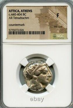 Ancient Greek Attica, Athènes 440 B.c. Athena/owl Tetradrachm Ngc Classé Fine