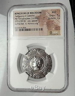 Antigonos II Gonatas 274bc Pièce De Monnaie Grecque Antique En Tétradrachme Argent Pan Ngc I59095