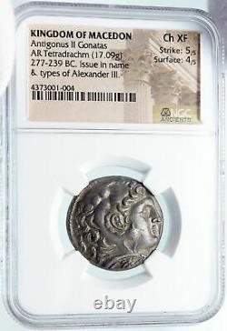 Antigonos II Gonatas Argent Grec Tetradracm Pièce Alexander III Ngc I85488