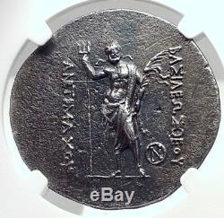 Antimaque Ier Gréco-baktrian Bactriane Grecque Tétradrachme D'argent Monnaie Ngc I72394