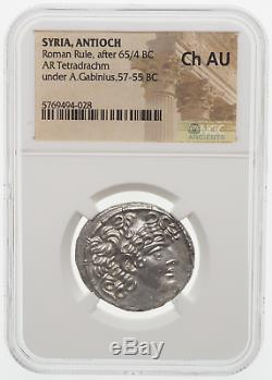 Antioche, Règle Romaine, Après 65/4 B. C. Silver Tetradrachm, A. Gabinius, Ngc Ch Au