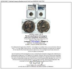 Antiochos IV Arménien Commagène Ancien Royaume Grec Coin Scorpion Ngc I77883