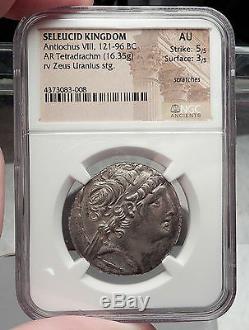 Antiochos VIII Monnaie Grecque De Tétradrachme D'argent De Séleucidé Grypos Ngc I58856