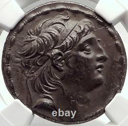 Antiochos VII Seleukid Argent Grec Cappadocien Tetradrachm Monnaie Ngc Au I70336