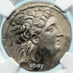 Antiochos VII Seleukid Argent Grec Cappadocien Tetradrachme Pièce Ngc Chxf I83844