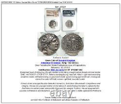 Antiochos VII Sidetes Ancient Silver Greek Tetradrachm Seleukid Coin Ngc I84884