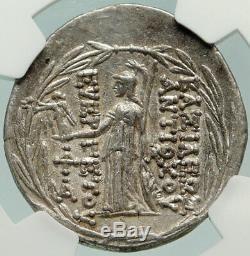 Antiochos VII Sidétès Argent Grec Ancien Tétradrachme Seleukid Monnaie Ngc I84881