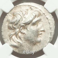 Antiochus VII Grec Ancien Seleukids Ar Tétradrachme 138-29bc Ngc Ch Xf