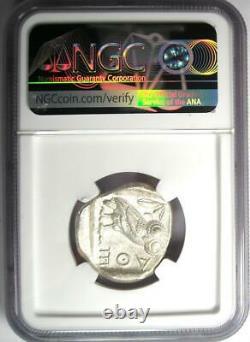 Antique Athènes Grèce Athena Owl Tetradrachm Coin (440-404 Av. J.-c.) Ngc Au