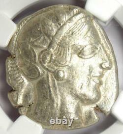Antique Athènes Grèce Athena Owl Tetradrachm Coin (440-404 Av. J.-c.) Ngc Choice Vf