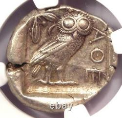 Antique Athènes Grèce Athena Owl Tetradrachm Coin (440-404 Av. J.-c.) Ngc Choice Xf