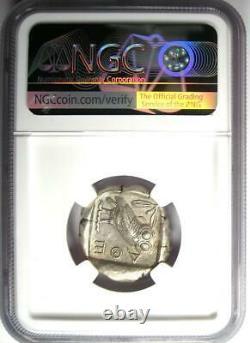 Antique Athènes Grèce Athena Owl Tetradrachm Coin 440-404 Bc Ngc Ch Xf, Test Cut