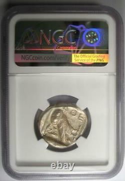 Antique Athènes Grèce Athena Owl Tetradrachm Silver Coin (440-404 Av. J.-c.) Ngc Au