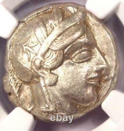 Antique Athènes Grèce Athena Owl Tetradrachm Silver Coin (440-404 Av. J.-c.) Ngc Xf