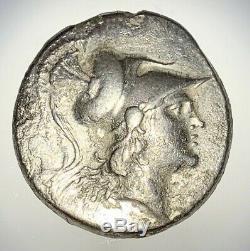Antique Grec Piece En Argent Pamphylia, 2ème 1er Siècle Avant Jc Tetradrachme Nice